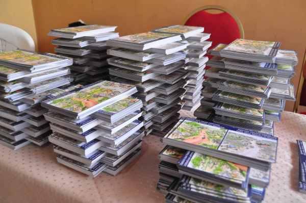 postcard piles